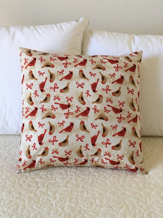 Cardinals Pillow Cover - Christmas Pillow - Swappillow Covers Holiday Gift