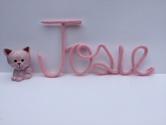 Wire Word Art - Wire Names - French Knit Cord - Wire Wall Decor - Nursery Decor - Photo Prop Name- Large Wire Name - Personalized Wire Name