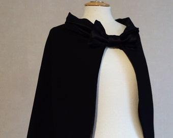 Cape black, cape colored, bridal cape, capeline, black cape
