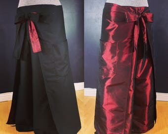 Reversible Wrap Pants with pockets
