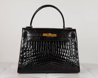 Vintage (1973) Real Crocodile Leather bag