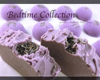 Beneficial Essential Oil Soap / Lavender, Chamomile, Ylang-Ylang / Bedtime Soap