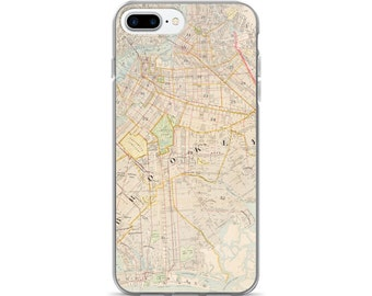 Vintage Brooklyn/NYC map case for iPhone 5s, 6, 6s, 6 Plus, 6s Plus