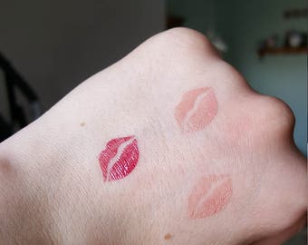 LipSense sticker stencil - lips - stencils design, lipstick, swatch tester stripes