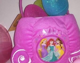 Princess Jumbo Plush Basket with 3 Large Glitter Eggs