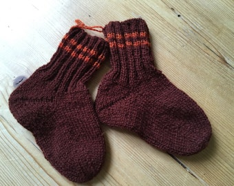 Knitted socks, knitted, size 23/24