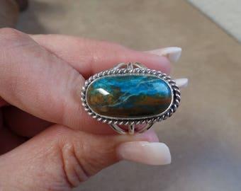 Elegant Peruvian Opal Ring 1264