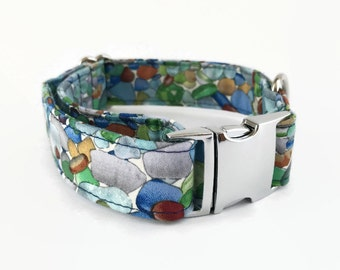 Buckle/Snap Dog Collar River Rocks // Dog Lover Gift // Dog Accessories // Nature Dog Collar // Pebble Collar