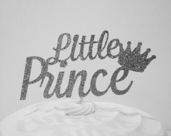 Little Prince Cake Topper in Sparkling Silver!