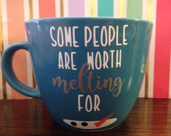 Some people are worth melting for, Frozen mug