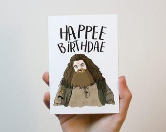 Harry potter card Etsy