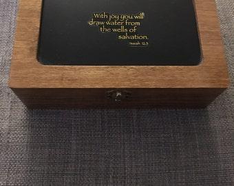 Personalized basswood box