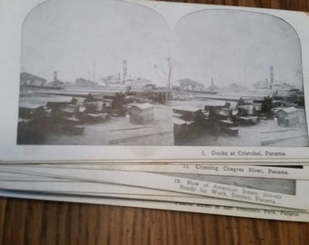 Panama in the early 1900's-Vintage-Stereoscopic Cards