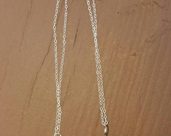 Smokey Quartz Wire Wrapped on Sterling Silver Chain