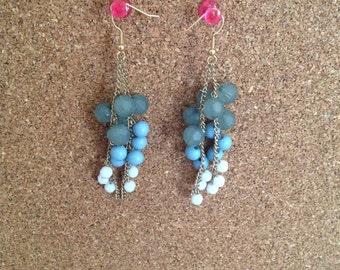 Grape vine earrings
