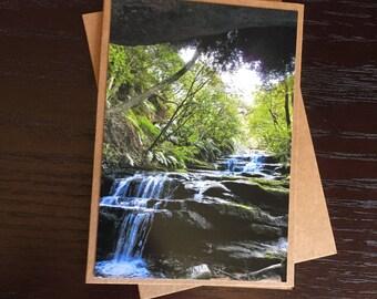Handmade Photo Card - Leura Cascades - JGP13