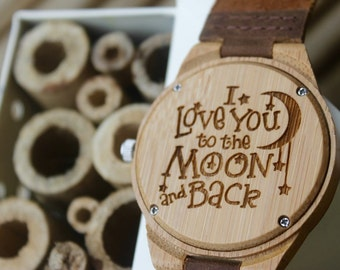 Valentines Gift, Gifts for men, Romantic gifts for men,  Anniversary Gift, Custom Watch, Birthday present for him, Romantic gifts for him