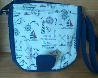 Sail boats theme shoulder bag