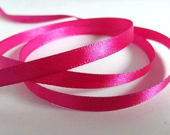 6mm Satin ribbon, Satin ribbon, Single sided ribbon, Ribbon, Ribboncrafts, Satin, Ribbon roll, Fuschia pink ribbon, Fuschia pink