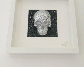 Hand painted 3D skull picture (spray)