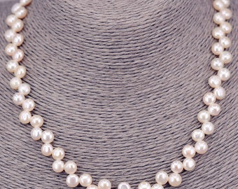 String of pearls round 7mm necklace PKE107
