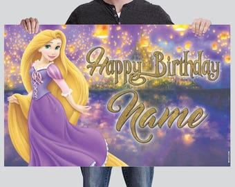 BANNER - Rapunzel Banner - Tangled Party Banner - Birthday Banner
