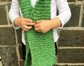Children's hand knit scarf