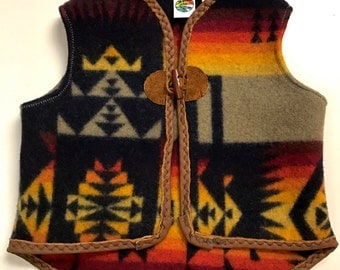 Upcycled Pendleton Baby/Toddler Vest