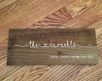 Custom 12 x 5 wooden plaque sign