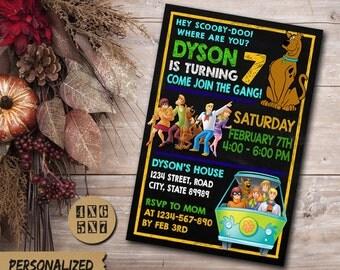 Scooby Doo Birthday Invitation / Scooby Doo Invitation / Scooby Doo Birthday Party Invitation / Scooby Doo Party / Scooby Doo Birthday