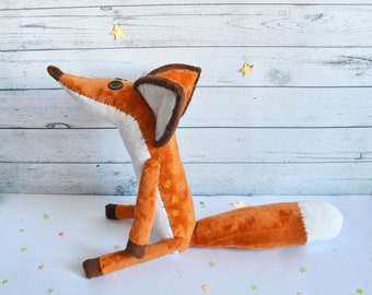 Mr. Fox from animated cartoon The Little Prince- FOX - Fox plush - The little fox - Toys- little prince fox