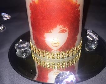 Afro Bling Candle