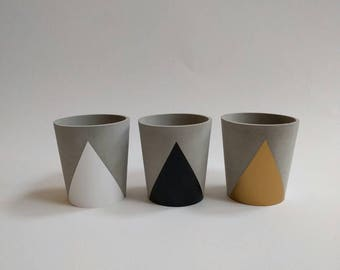 Concrete Cup Tealight Candle Holder - choice of colours