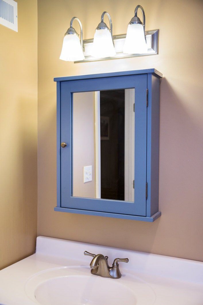 Shaker Style Hand Crafter Medicine Cabinet With Mirror