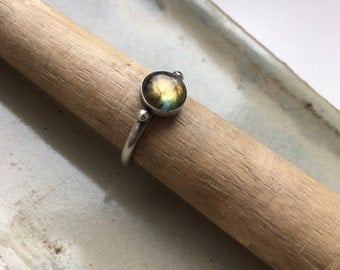 Balance Ring with Labradorite