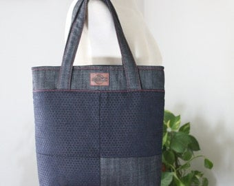 Tote bag medium / medium handbag / tote bag denim / denim bag