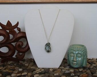 Seraphinite Macrame Crystal Hemp Necklace