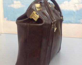 50s Carryall | Original vegan Carryall | Vintage faux leather bag | Vintage Carryall | 50s carryall