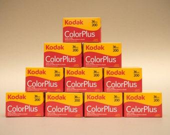 10 x Kodak ColorPlus 35mm 36 Exposures ISO 200 Color Negative Film