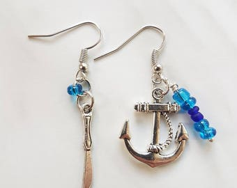 Pirate earrings (still and knife)