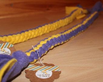 tug for dog fleece tug right / toy / agility / flyball