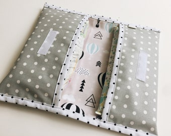 Diaper pouch-small diaper bag-diaper-diaper envelope holder-baby shower gift-gift for baby