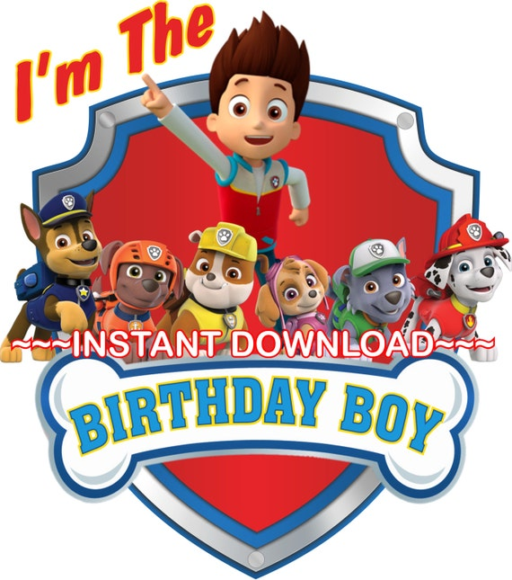 Lively image intended for paw patrol printable birthday