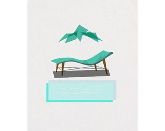 Midcentury Miniatures Series 2: Chairs! Art print, Great Gift Idea, Giclee Print