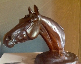 "Bronze Scupture entitled ""Annette"" 1983. Race Horse. London Foundry Mark"