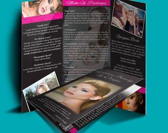 Trifold program etsy for 8 5x11 tri fold brochure template