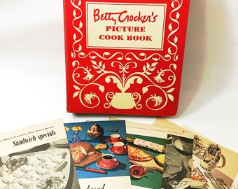 FIRST EDITION Betty Crocker's Picture Cook Book with all additional insert pages!  Rare & Collectible Cookbook