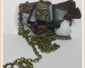 Dough polymer Pavilion Pirate necklace