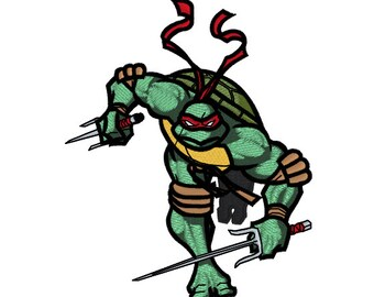 Machine Embroidery Design - Raphael (Teenage Mutant Ninja Turtles)