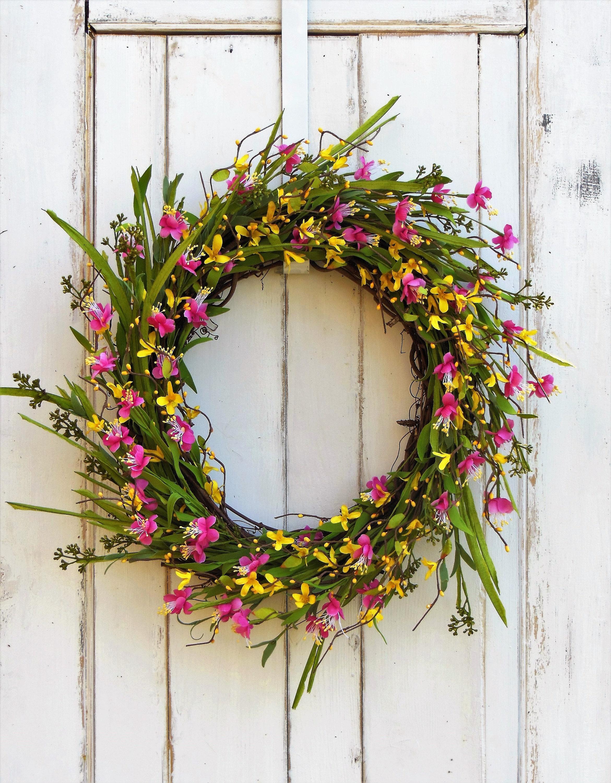 spring wreath for front doorSpring Wreath Front Door Wreath Wreath Summer Wreath Wreath
